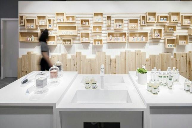 Sistema de interior de tiendas con muebles modulares