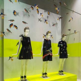 Escaparate en Milán ciudad de la moda