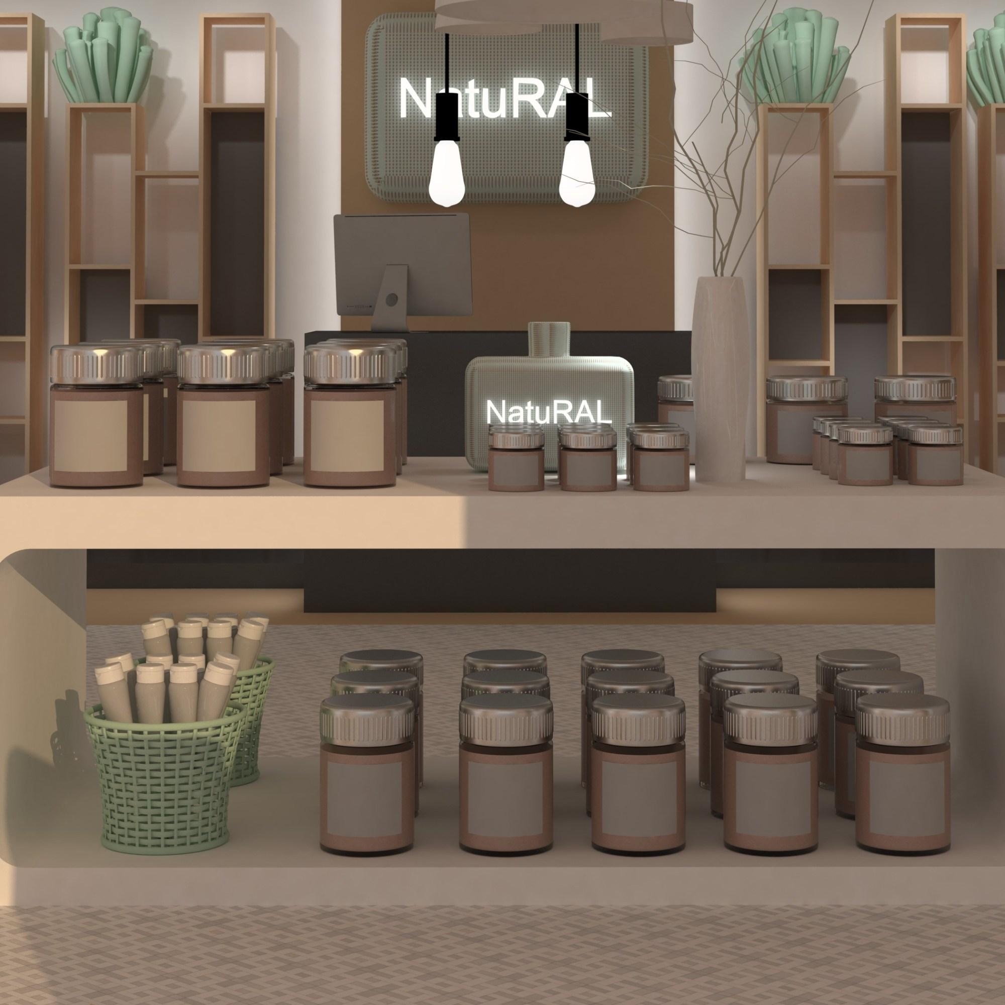 Diseño de tienda - Herbolario - Diseño Studio Escaparatismo -