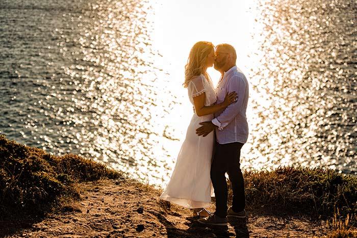 photo bord de mer en couple