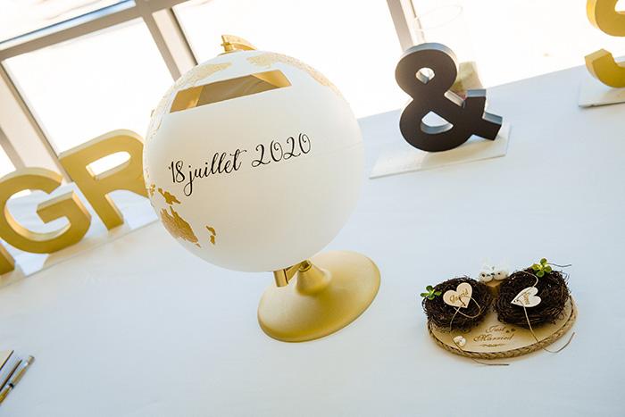 decoration avec prénoms mariés