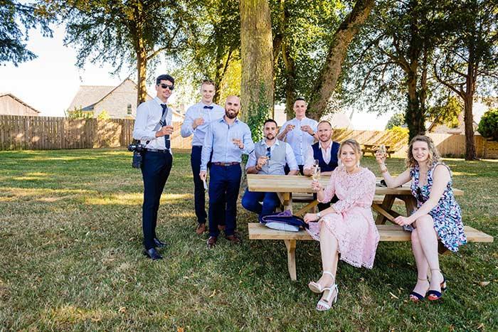 photo mariage cocktail château des pères