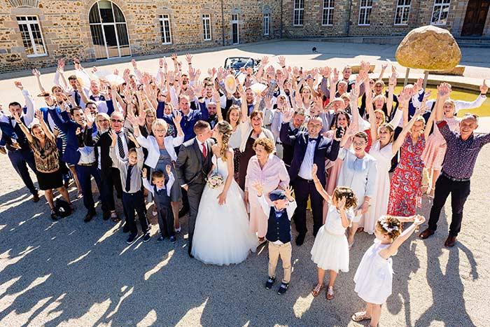 groupe mariage château des pères