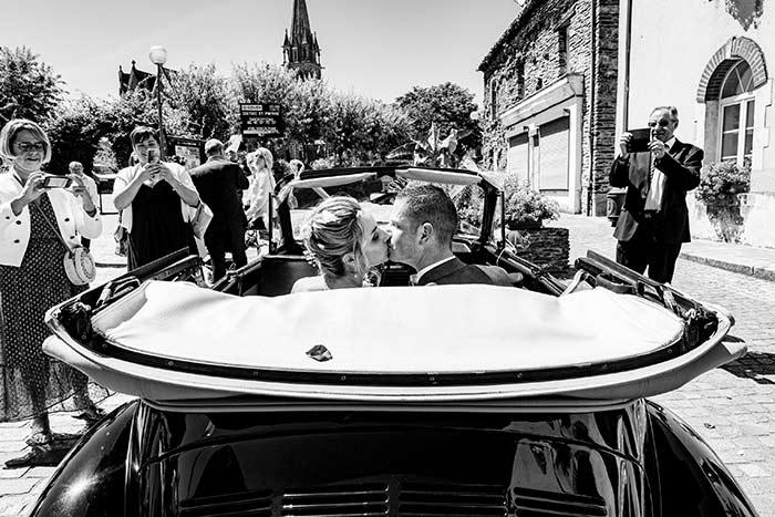 photo voiture mariage