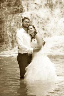 Portret ślubny wodospad Iwla
