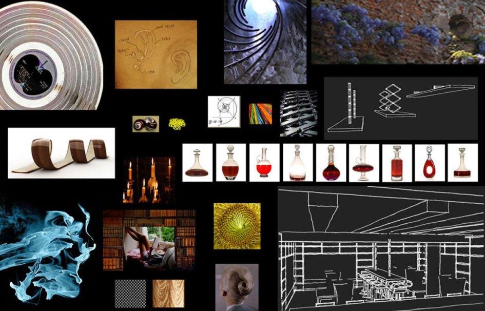 Bungalow 8 stolen design concept DJ library