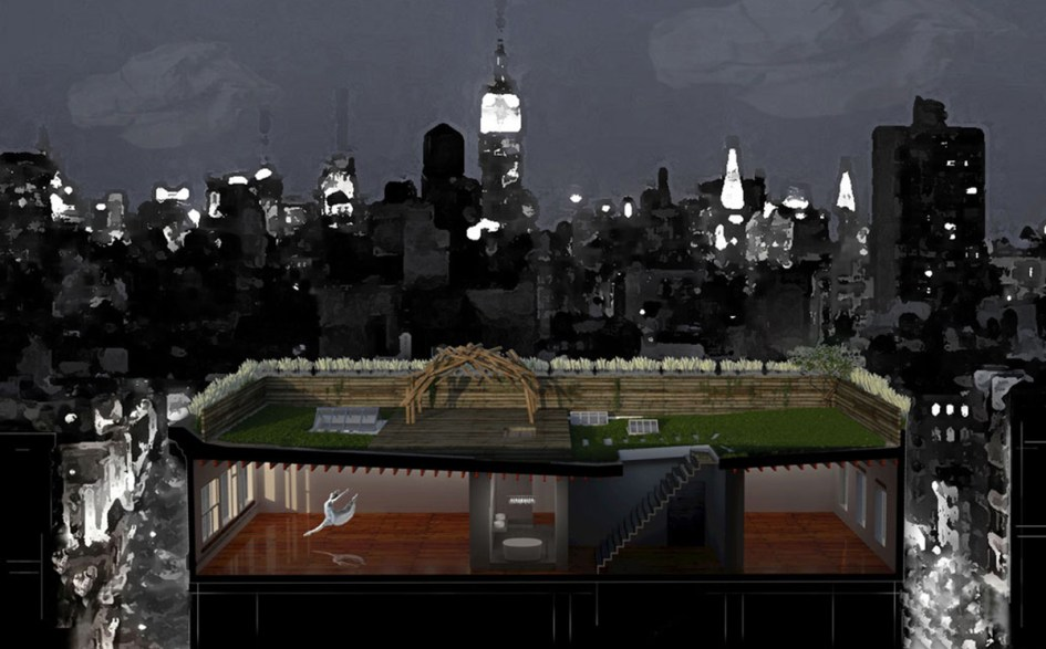 soho new york loft iii penthouse :: section rendering ... artistic viewpoint of the soho loft lifestyle