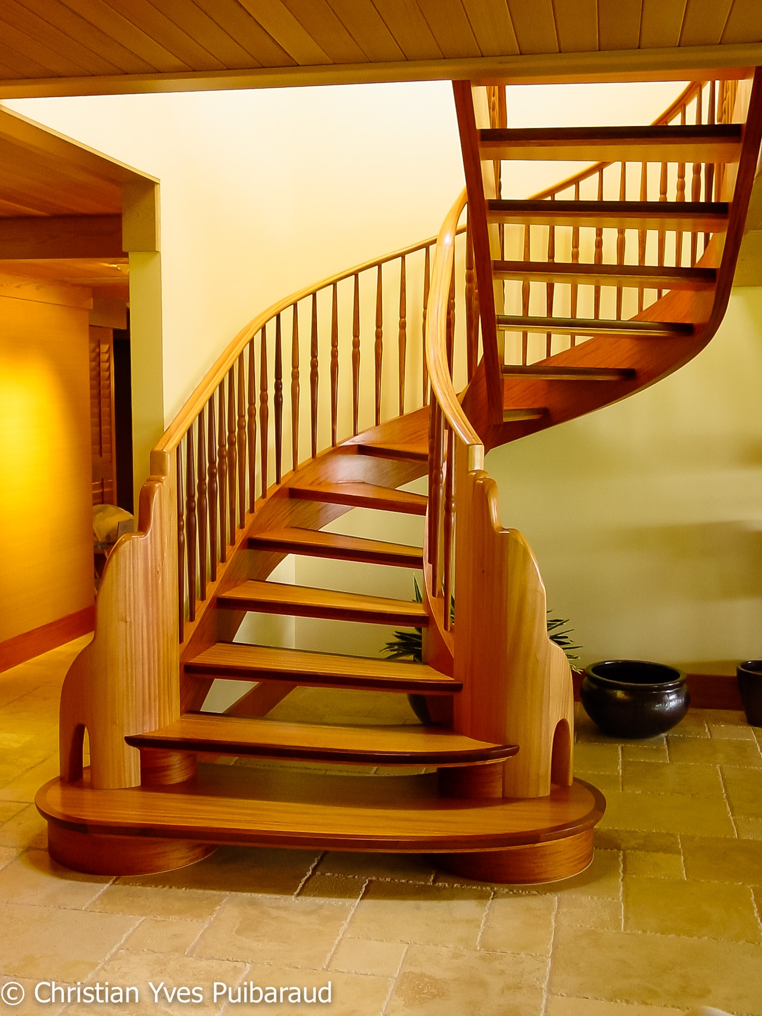 African Mahogany Dolphin Staircase Studiofurnituremaui   African Mahogany Stair Treads   Dolphin   Stair Parts   Hardwood Lumber   Sapele   Floor