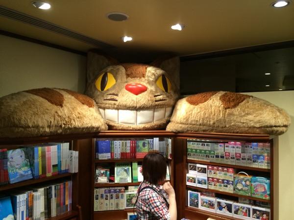 Nekobus presidiendo la biblioteca de la tienda.