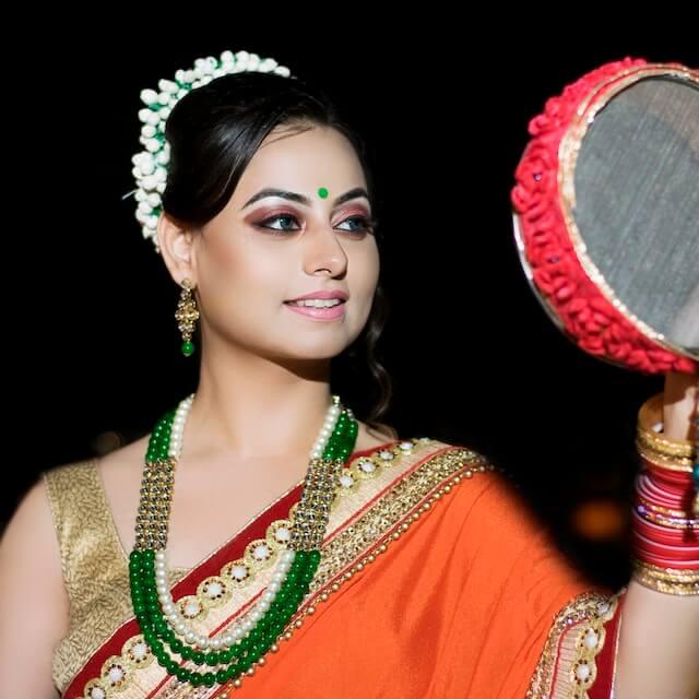 karwa chauth makeup