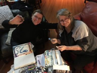 Heidi Bergstrom and Pamela Millar Art Jam - 2017