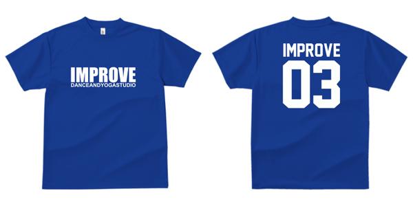 STUDIO-IMPROVE-T-SHIRTS-ブルー