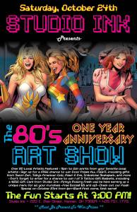 80s anniv party poster