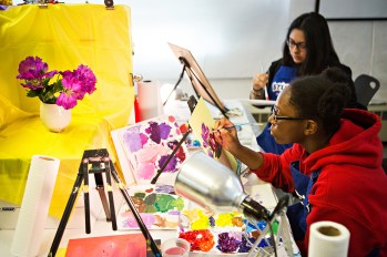 """""""I loved the challenging set-ups. Painting the colored boxes and then adding the colored lights helped me experience color in a new way. I really appreciated the way the teachers would give everyone feedback, they were so helpful to everyone."""""""
