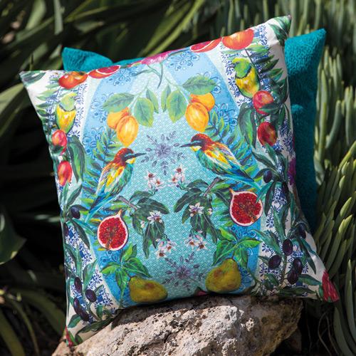 Cushions image courtesy of Matthew Williamson © at Osborne & Little Ltd.