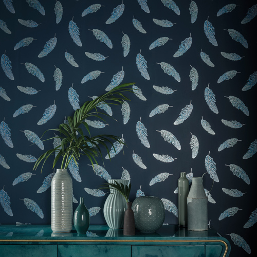 Wallpaper image courtesy of Matthew Williamson © at Osborne & Little Ltd.