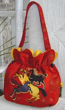 Use a pretty paneled print for the Bag Front
