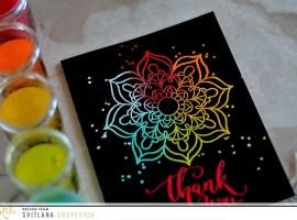 Multi Color Embossed Mandala