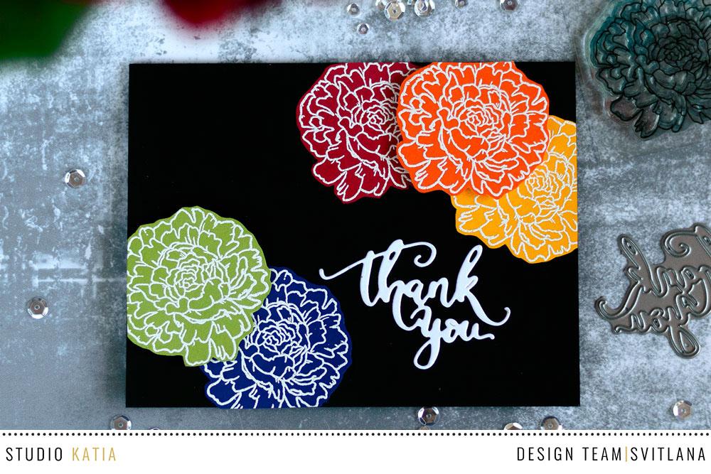 Using Color Cardstock leftovers. Card by @craftwalks