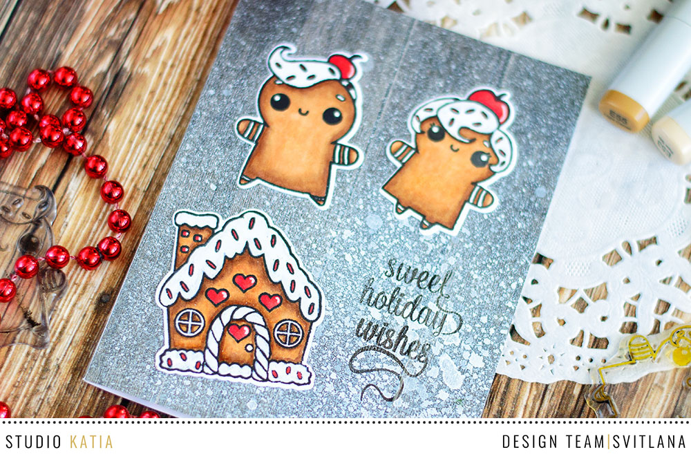 Ginger cookies on a flour covered table. Card by @craftwalks