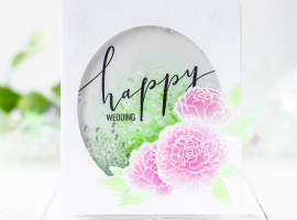 Floral Wedding Card with Kristina