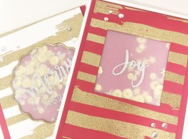 Theme Week | Last Minute Christmas Cards: Day 5 Merry & Joy with Katia