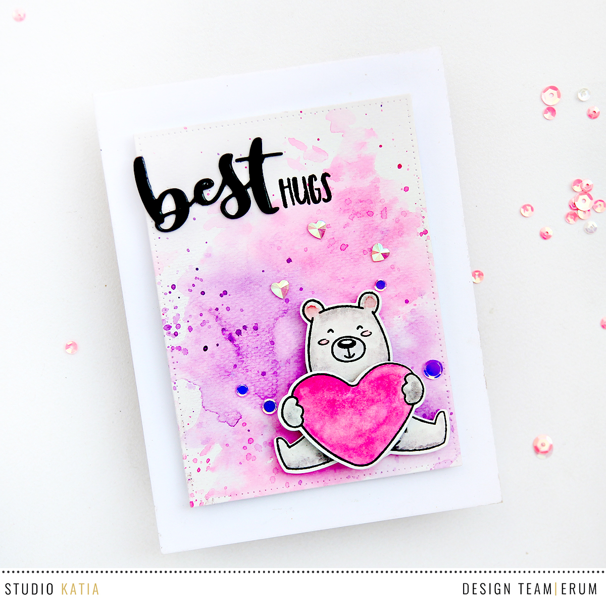Studio Katia Kobi's Hugs and Kisses Stamp Set | Best Ever Stamp Set | Erum Tasneem | @pr0digy0
