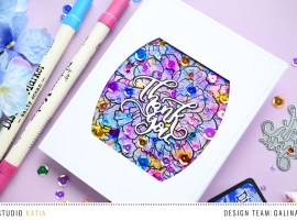 Colorful Backround Card with Galina + Video