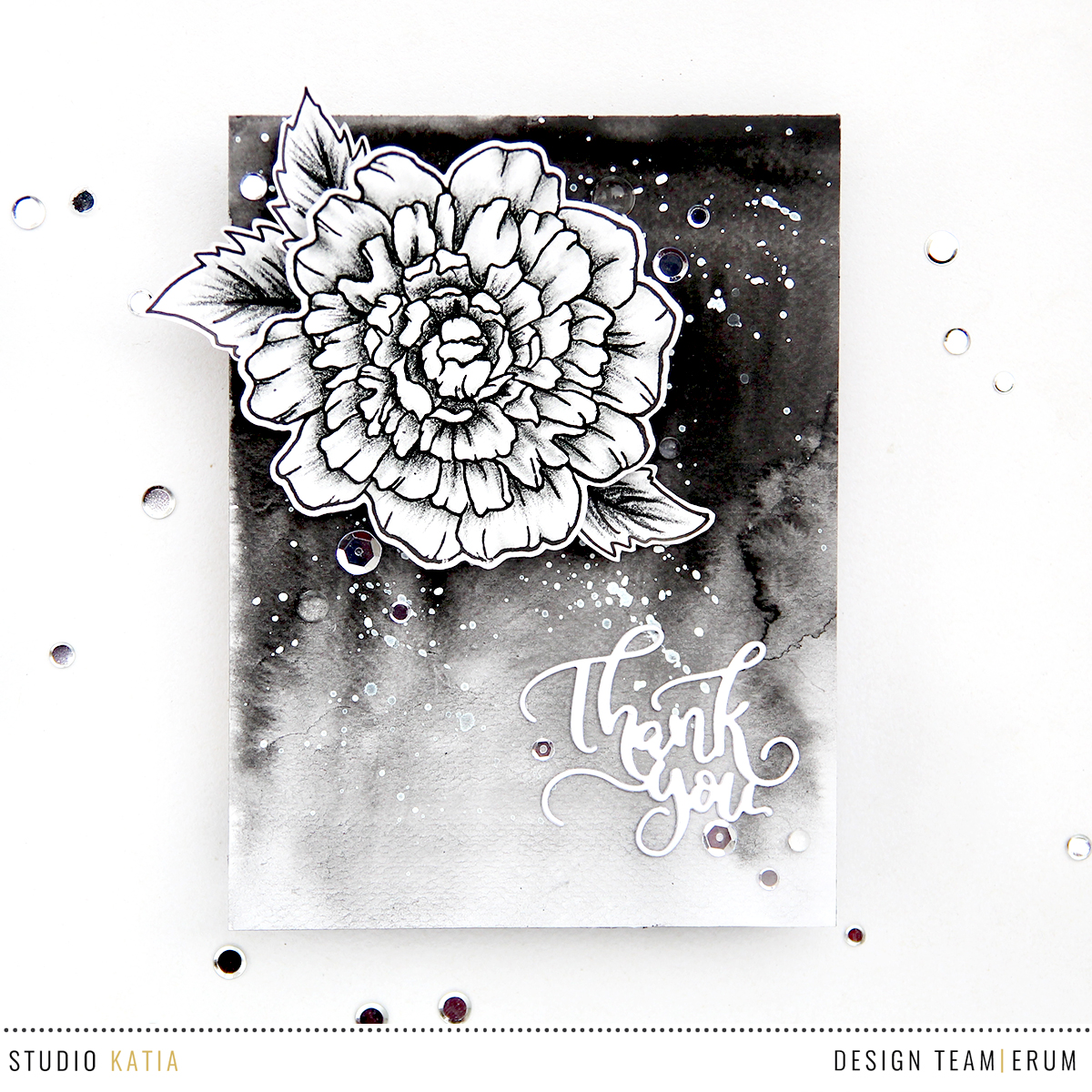 Studio Katia Thank You So Much Stamp Set | Erum Tasneem | @pr0digy0