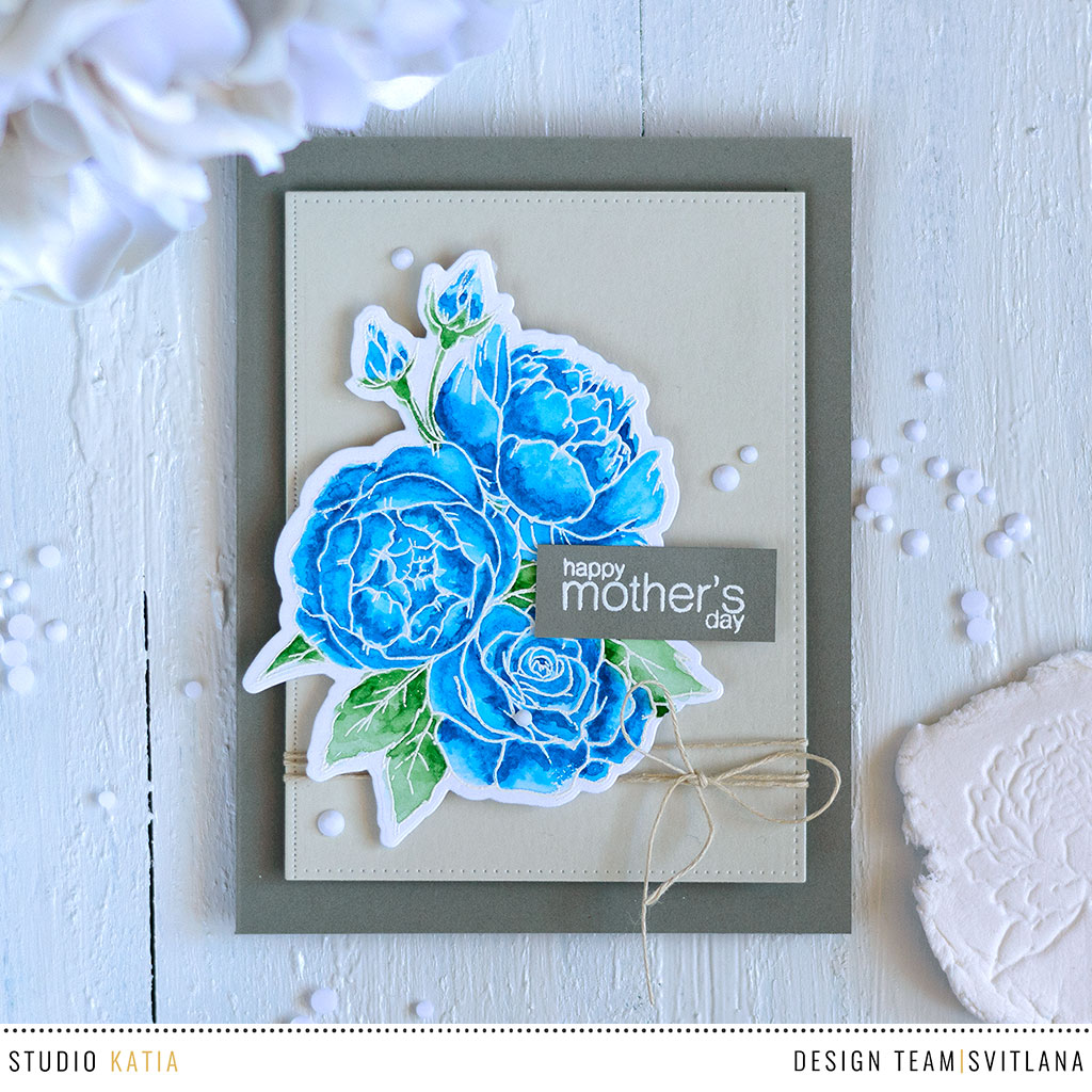 Studio Katia Spring Bouquet. Card by @craftwalks
