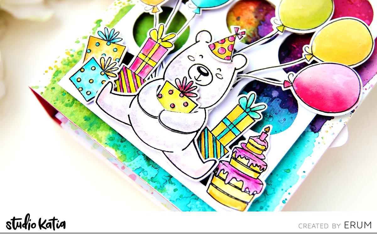Studio Katia Kobi Hugs and Kisses + Kobi the Birthday Bear + Birthday Greetings + Loops Die | Erum Tasneem | @pr0digy0