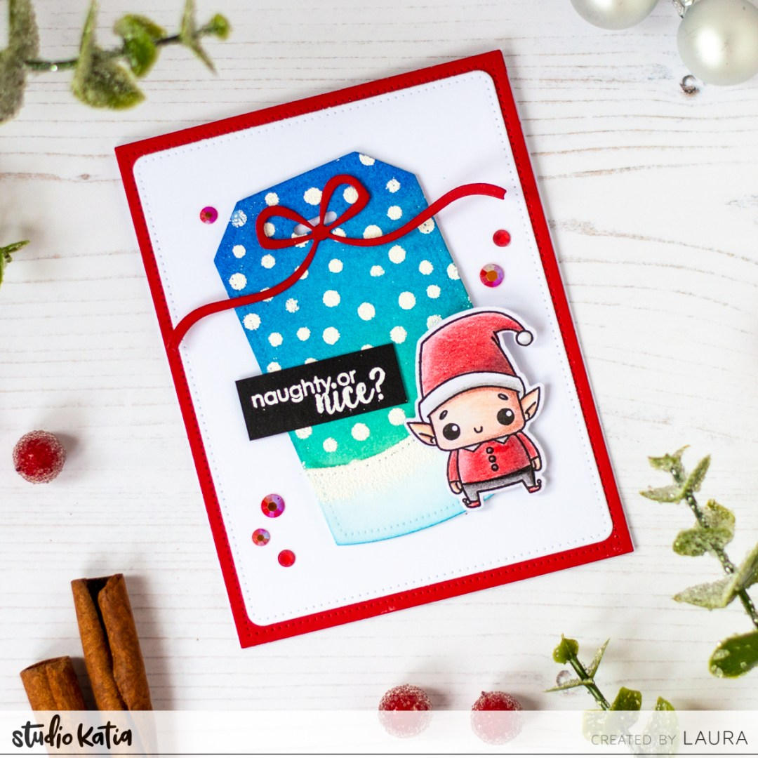 Cute Christmas Card With Laura