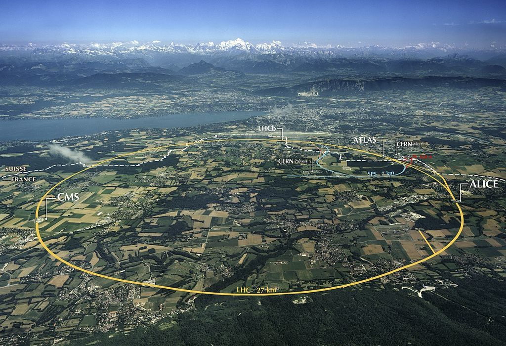CERN Large Hadron Collider construction