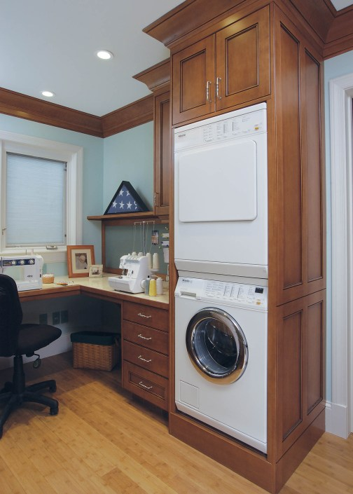 Laundry and sewing area
