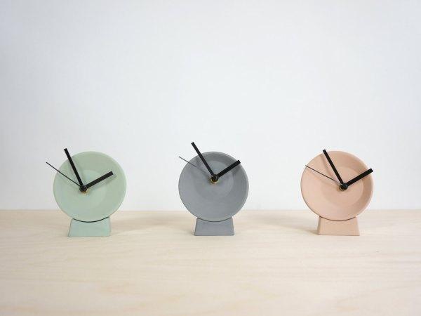 C09-1 Off center clock - studio lorier colors2 small clock ceramic clock hands