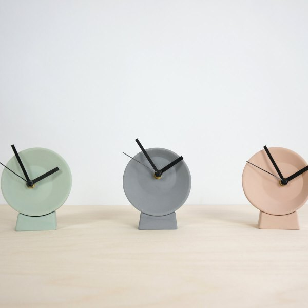 C09-1 Off center clock - studio lorier colors2 small clock ceramic clock hands