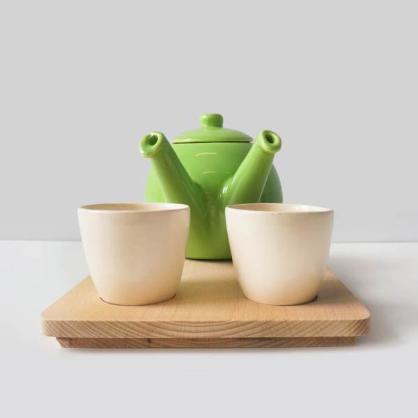 teagether 2015 - beech tray - apple green - tea for 2