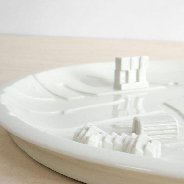 C08 - detail3 rotterdam bebouwde kom - city plate city dish - sushi plate - dish - studio lorier