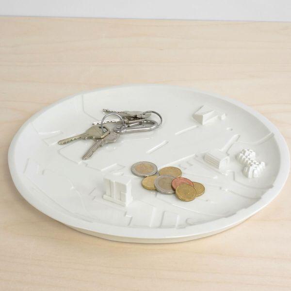 C08 - keys rotterdam bebouwde kom - city plate city dish - sushi plate - dish - studio lorier