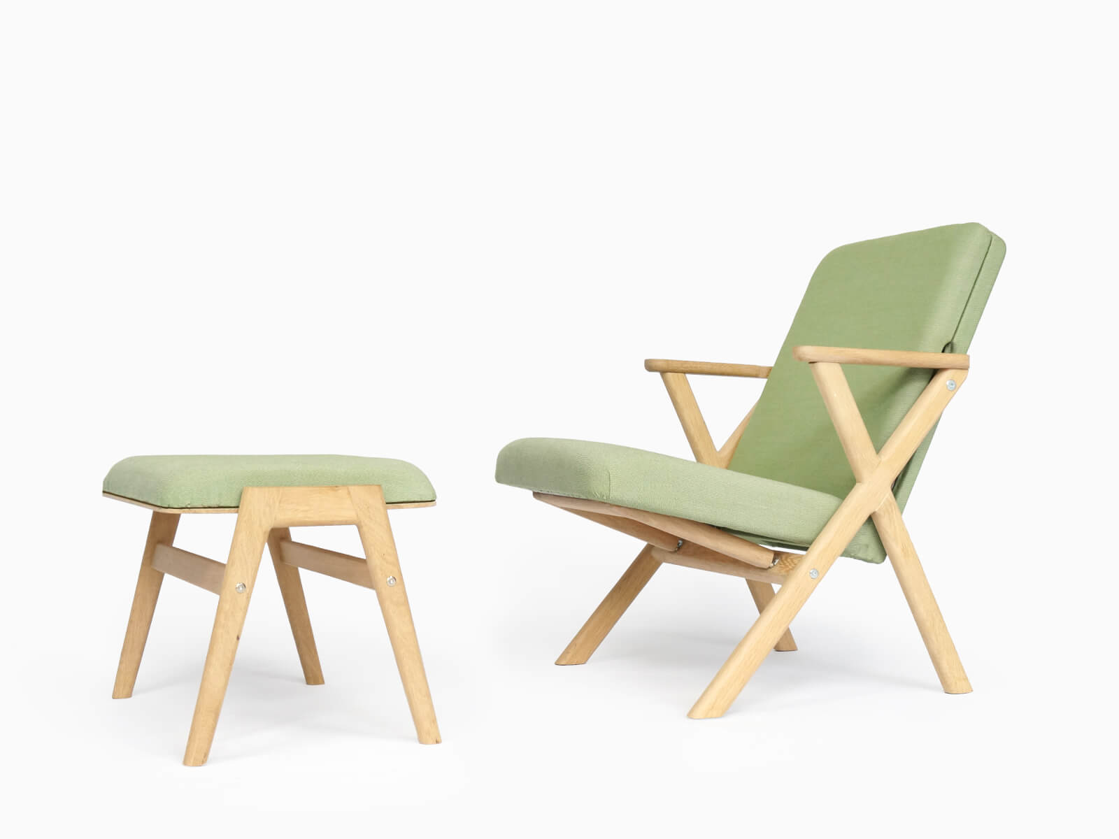 The Matching Hybrid Chair And Footstool.