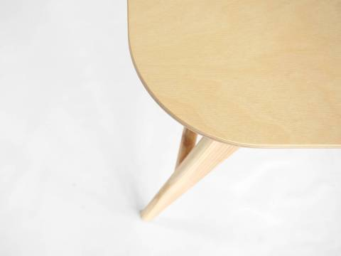 Detail of rounded corners from our new tabletop