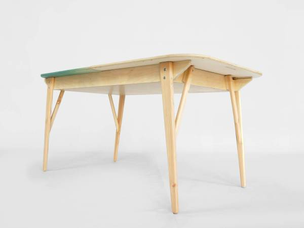F06 Tableworks -bottom- desk and table in one table with drawer vintage lorier dinnertable