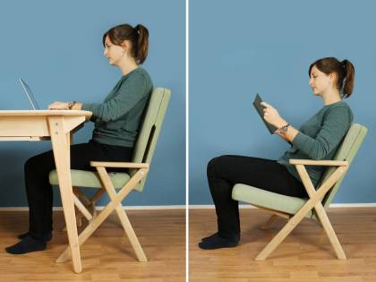 Save space, with only one chair for any situation: The Hybrid Chair
