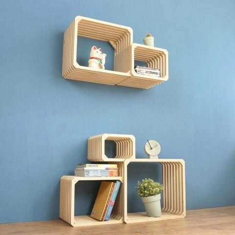 The modular Parallel Shelving, including wall mount