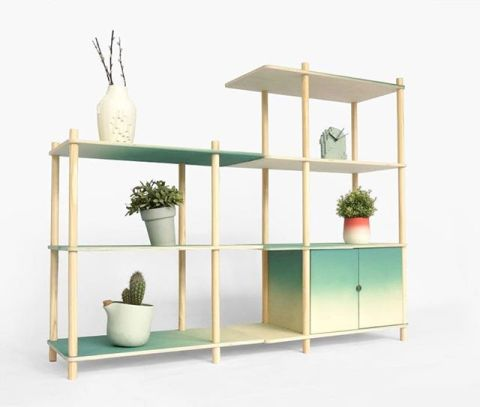 Gradients... a customizable shelving system