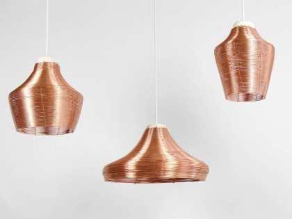 Three shapes, three pendant lamps