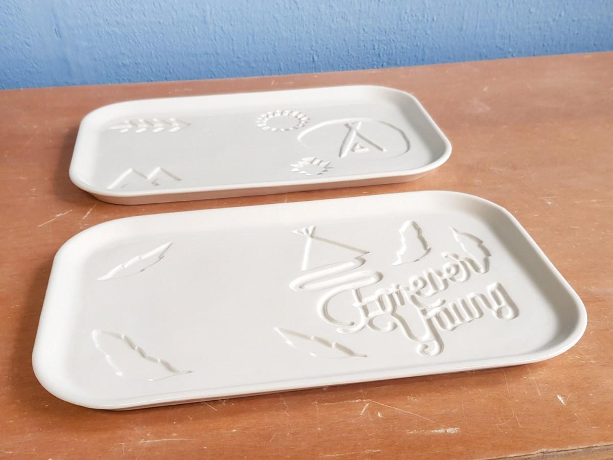 ceramic rectangular custom plate design bord aangepast klant volgens wensen