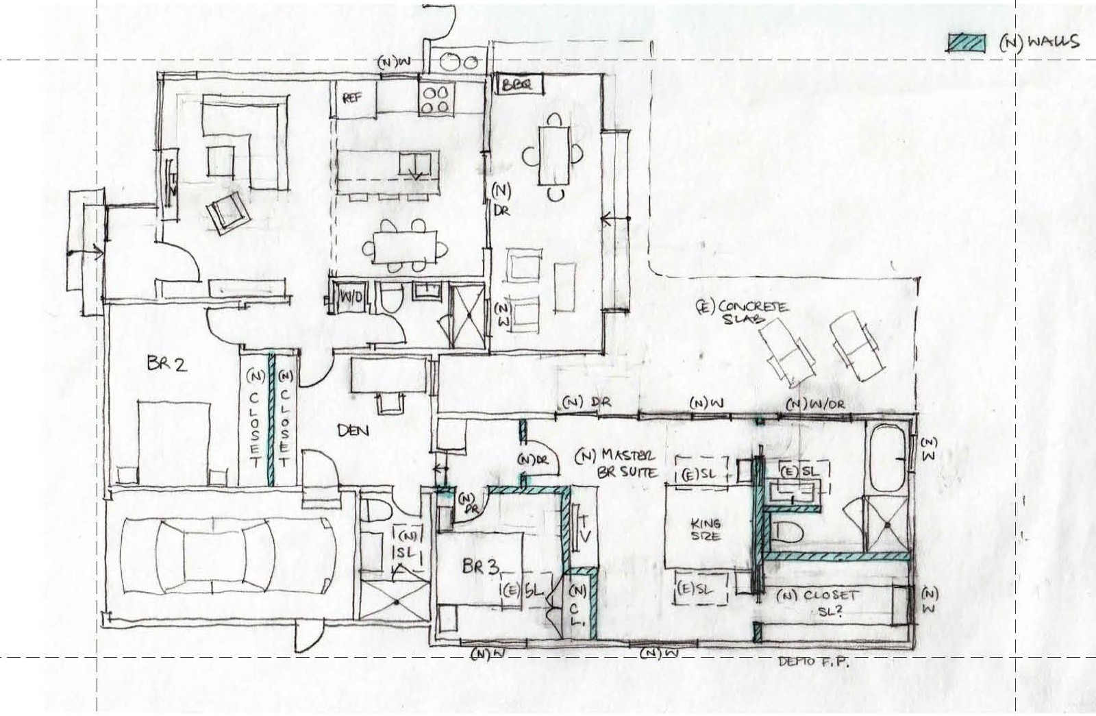 Architectural Planning Initial Sketches