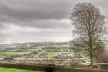 View of the hillside across from Newgrange.