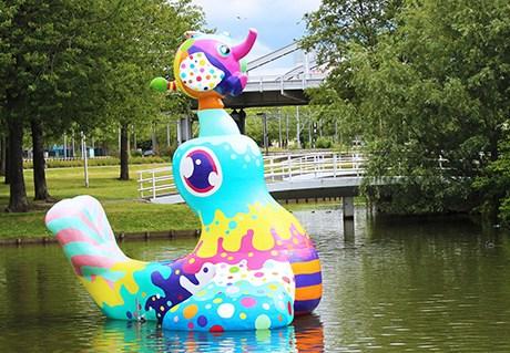 Floating object 'Zeehond op Zuid'